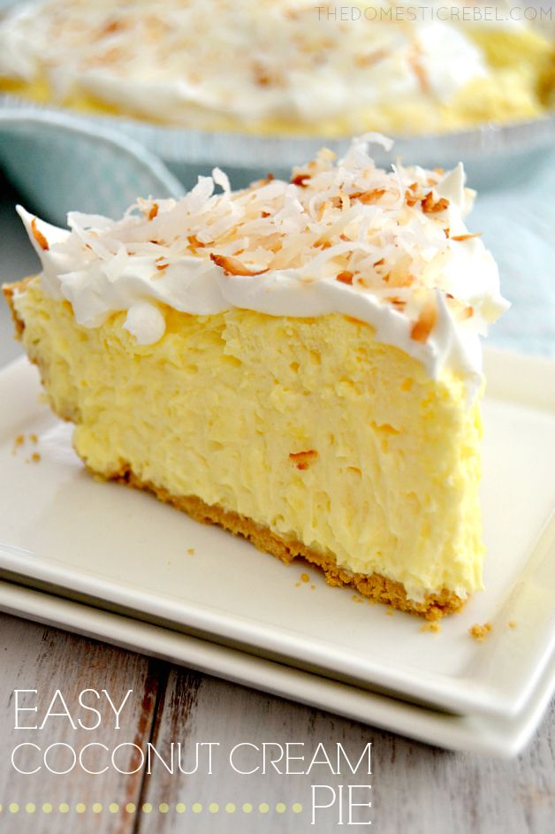 Easy Coconut Cream Pie The Domestic Rebel