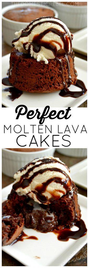 Perfect Molten Lava Cakes collage