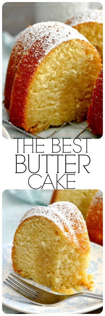 Best Butter Cake collage