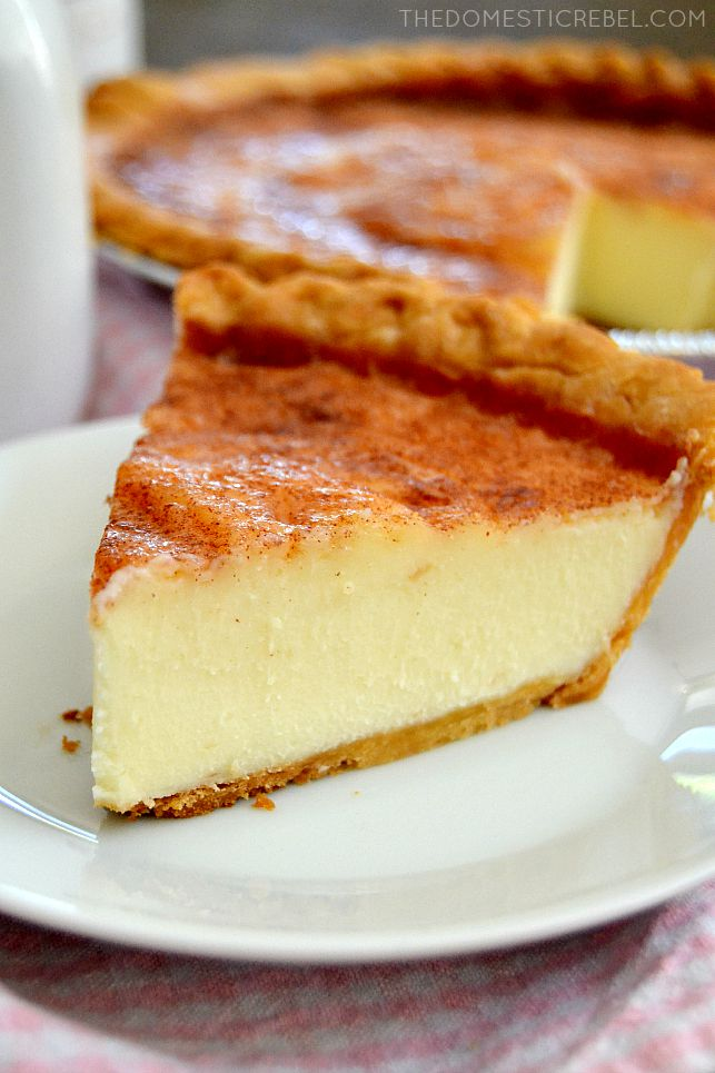This Sugar Cream Pie tastes like creme brulee in pie form! Buttery ...
