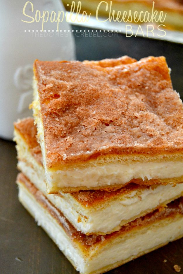 These crispy, creamy Sopapilla Cheesecake Bars are the BEST and ...