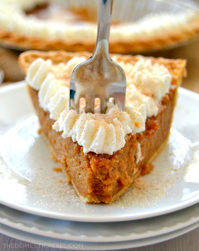 Apple Butter Pie on white plates with fork in it