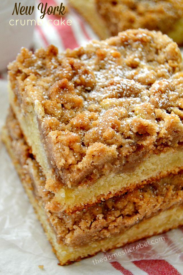 New York Crumb Cake | The Domestic Rebel