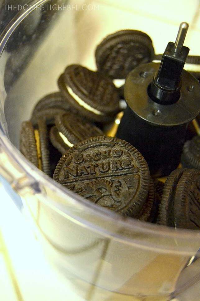 Back to Nature Cookies in a food processor