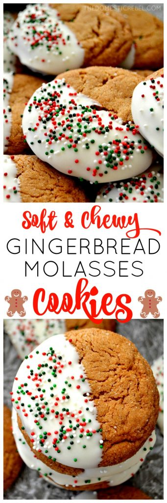 gingerbread molasses cookies collage