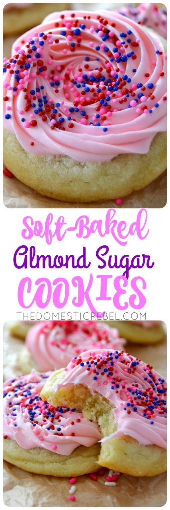 Soft-Baked Almond Sugar Cookies collage