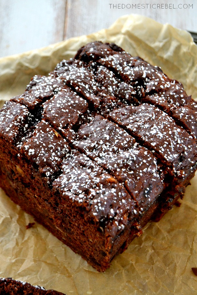 Chocolate Banana Bread arranged on parchment paper