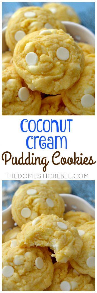 Coconut Cream Pudding Cookies collage