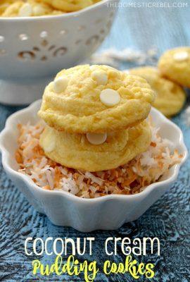 Coconut Cream Pudding Cookies