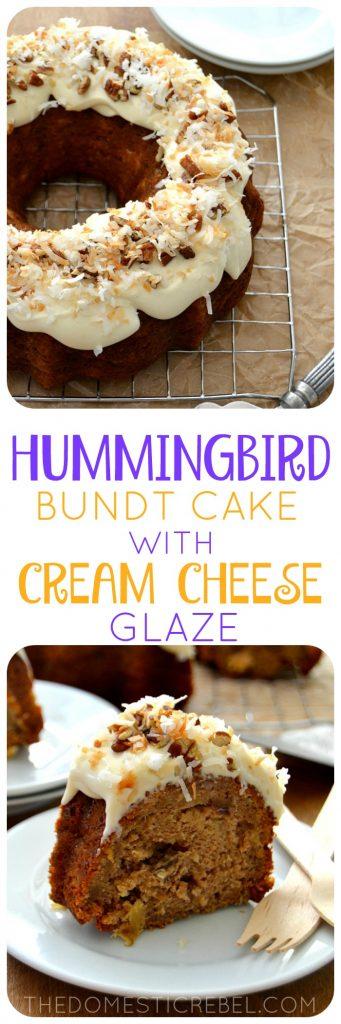 Hummingbird Bundt Cake collage