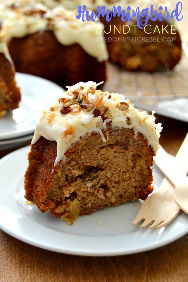 Easy Pineapple Humming Bird Bundt Cake