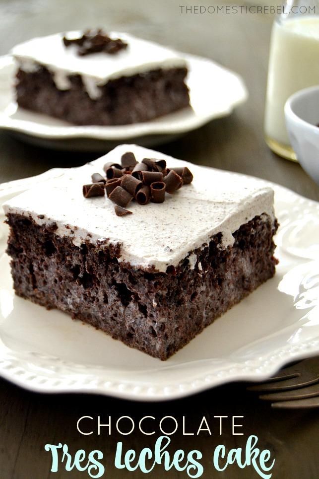 This Chocolate Tres Leches Cake is such a fun, elegant spin on the ...