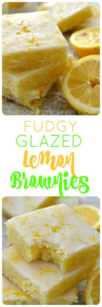 Fudgy Lemon Brownies collage