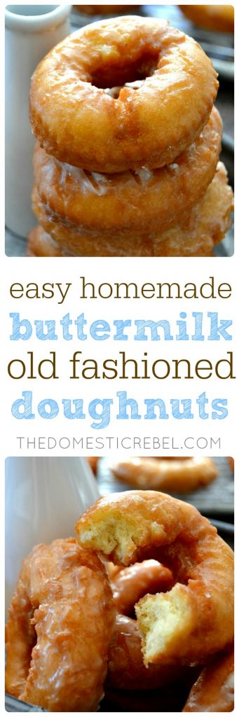 Old-Fashioned Buttermilk Doughnuts collage