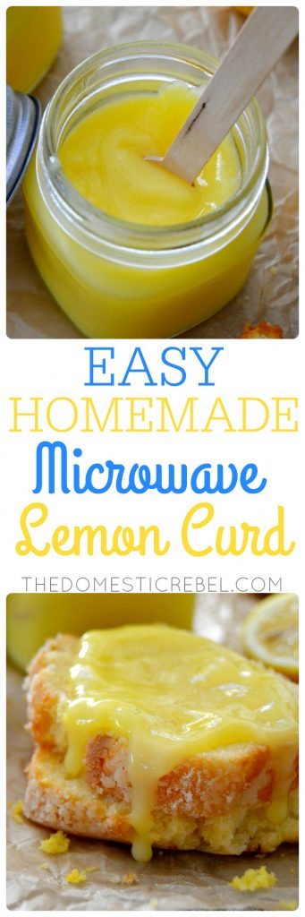 Homemade Microwave Lemon Curd collage