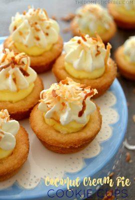 Coconut Cream Pie Cookie Cups