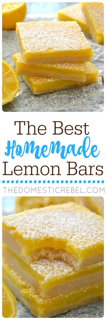 Homemade Lemon Bars collage