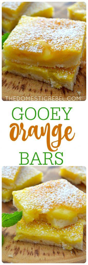 Gooey Orange Bars collage