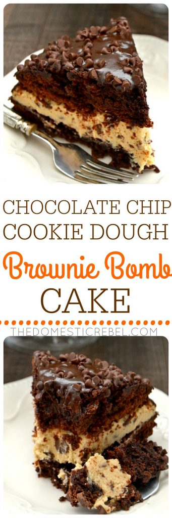 Brownie chocolate chip cookie cake recipe