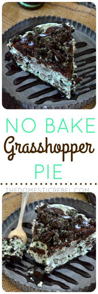 No-Bake Grasshopper Pie collage