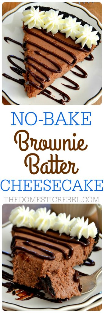 Brownie Batter Cheesecake collage