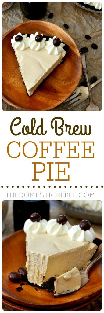 Cold Brew Coffee Pie collage