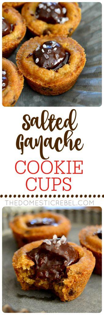 Salted Ganache Cookie Cups collage