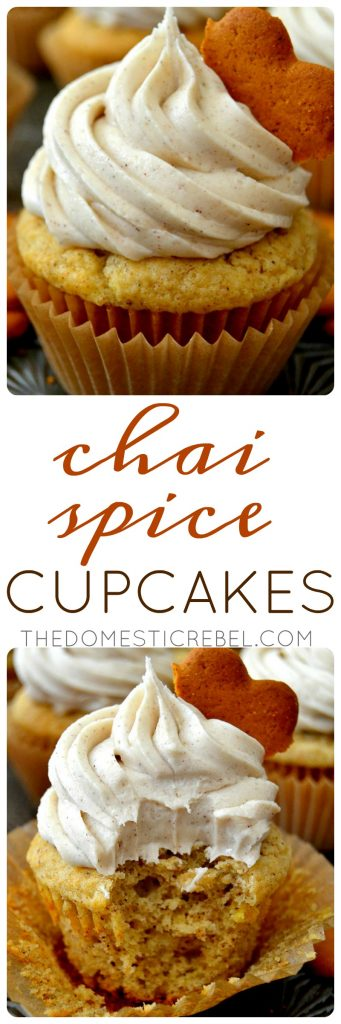 Chai Spice Cupcakes collage