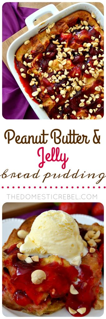 PBJ Bread Pudding collage