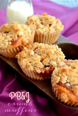 Peanut Butter & Jelly Crumb Muffins