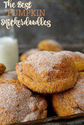 The Best Soft & Chewy Pumpkin Snickerdoodles