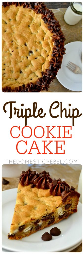 Triple Chip Cookie Cake collage