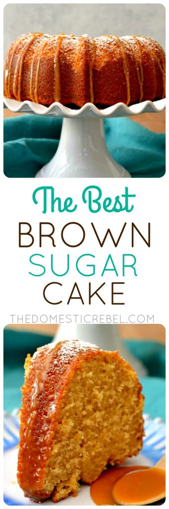 Brown Sugar Cake collage