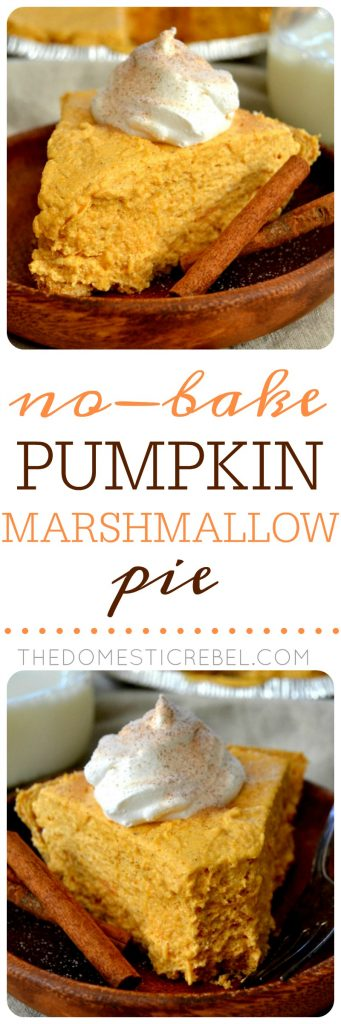 Pumpkin Marshmallow Pie collage
