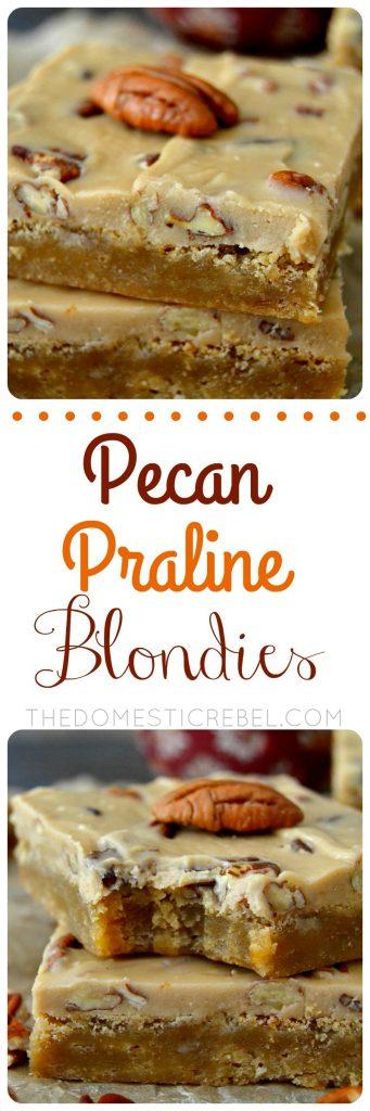 Pecan Praline Blondies collage