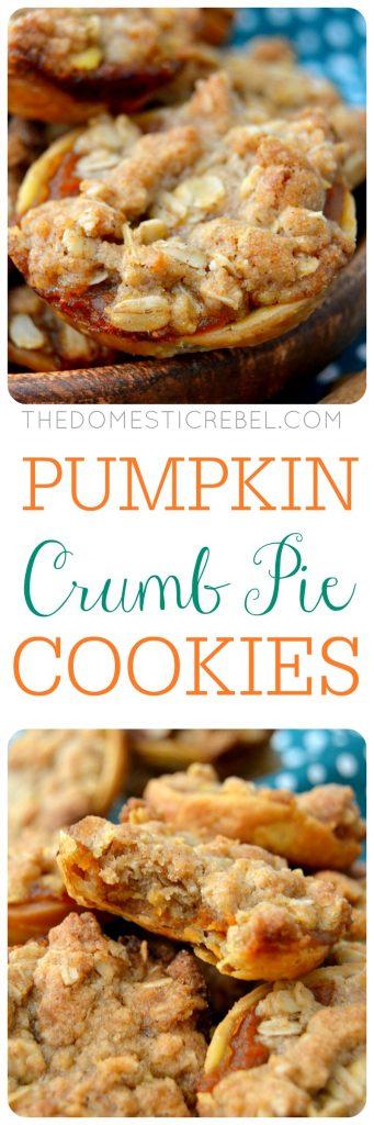 Pumpkin Crumb Pie Cookies collage