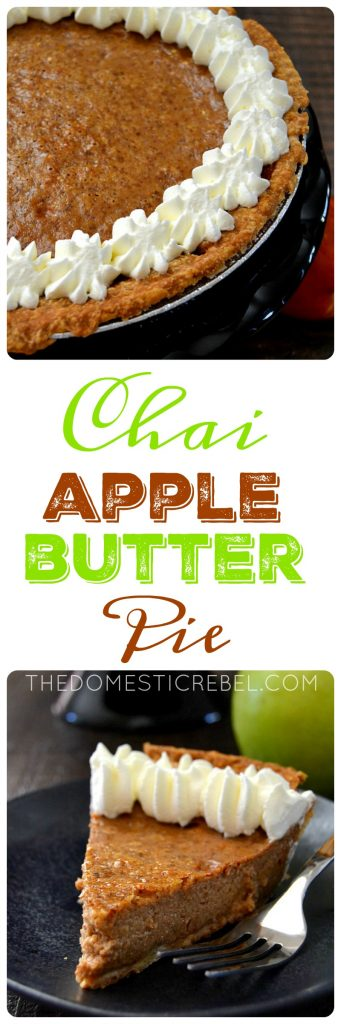 chai apple butter pie collage