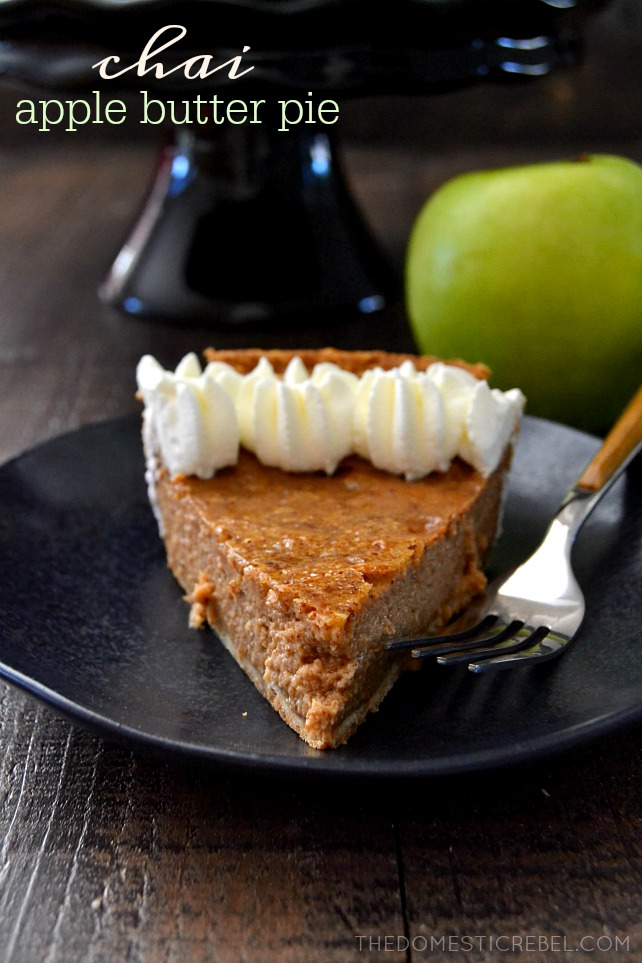 Chai Apple Butter Pie
