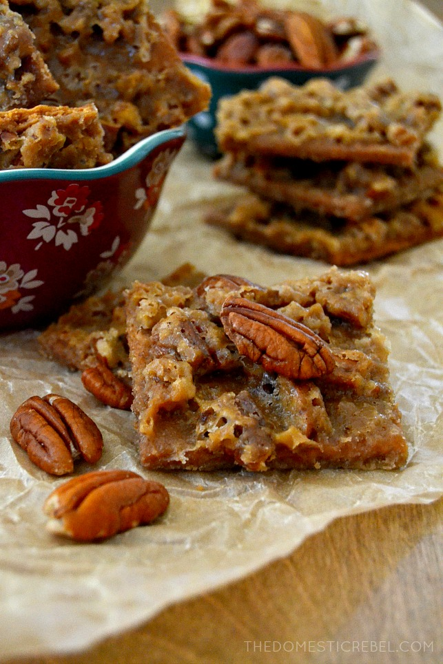 Praline Pie Bark is a delightfully unique mix between gooey pecan pie ...