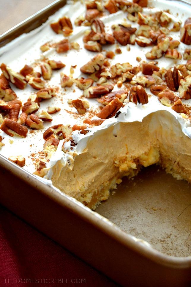 Pumpkin Pie Lush in bronze pan