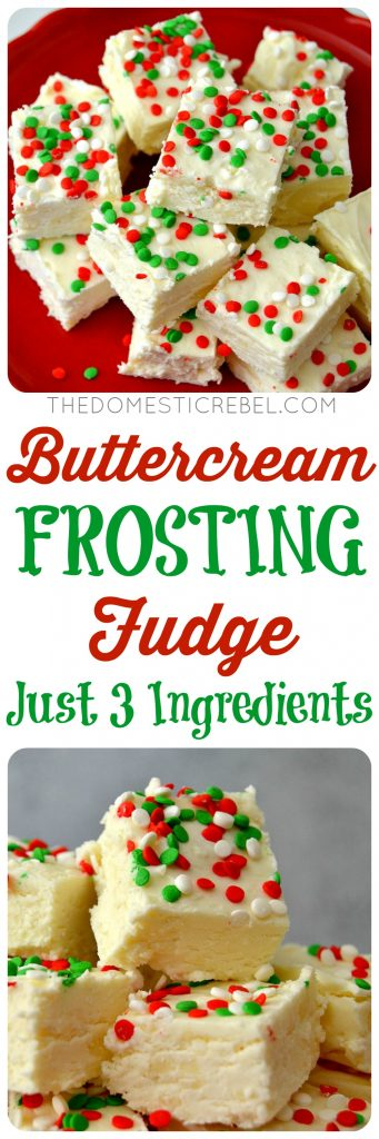 Buttercream Frosting Fudge collage