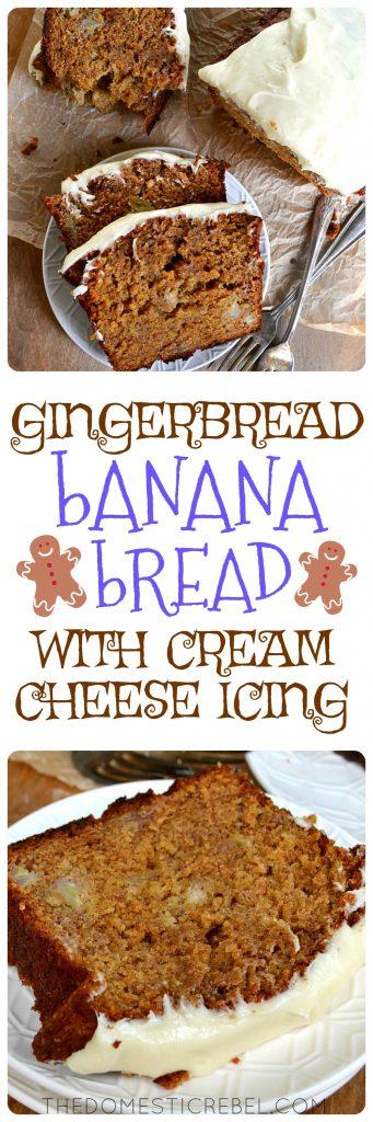 gingerbread banana bread collage