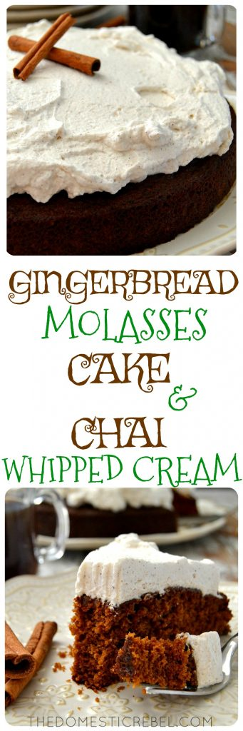 gingerbread molasses cake collage