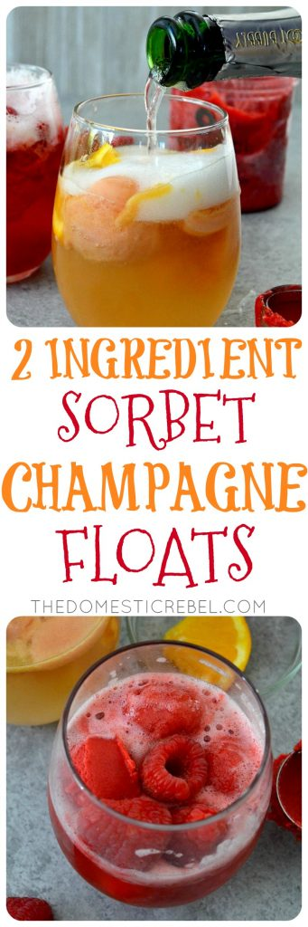 sorbet champagne floats collage