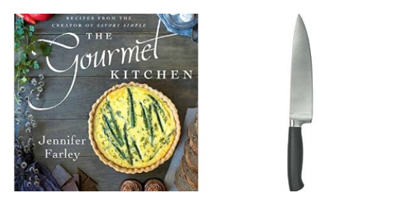 Gourmet Kitchen Cookbook + Chef's Knife Set
