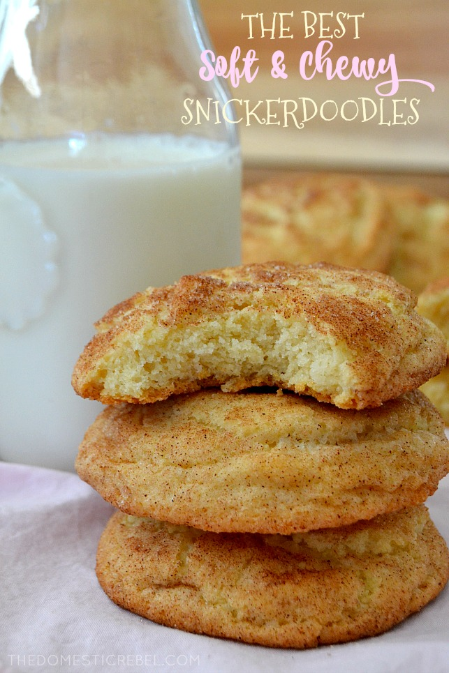 The Best Soft Chewy Snickerdoodles The Domestic Rebel