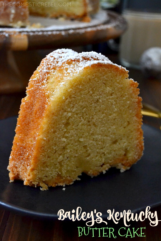 SLICE OF BAILEY'S KENTUCKY BUTTER CAKE