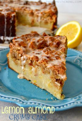 Lemon Almond Crumb Cake