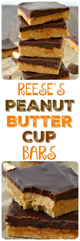 REESE'S PEANUT BUTTER CUP BARS COLLAGE