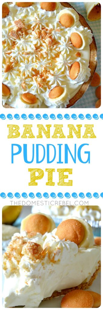 BANANA PUDDING PIE COLLAGE
